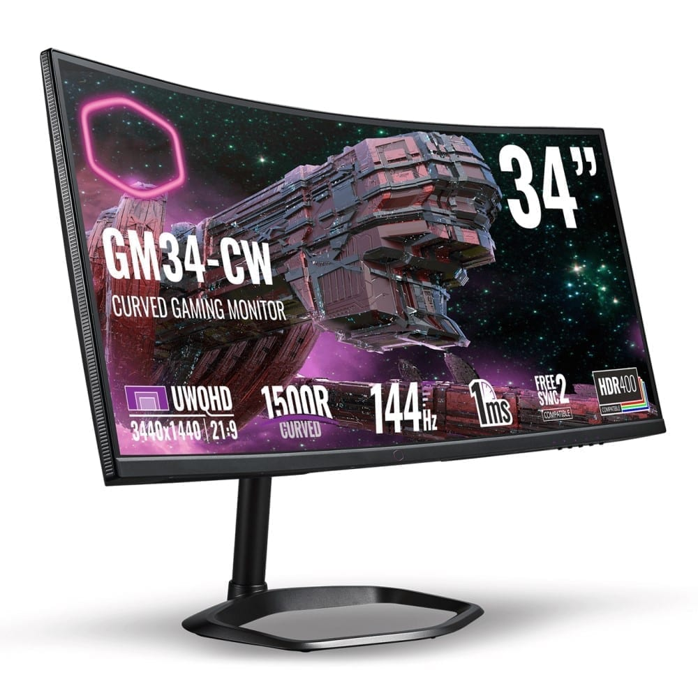 Cooler Master GM34-CW Curved Gaming Monitor QHD 144Hz 1ms 1