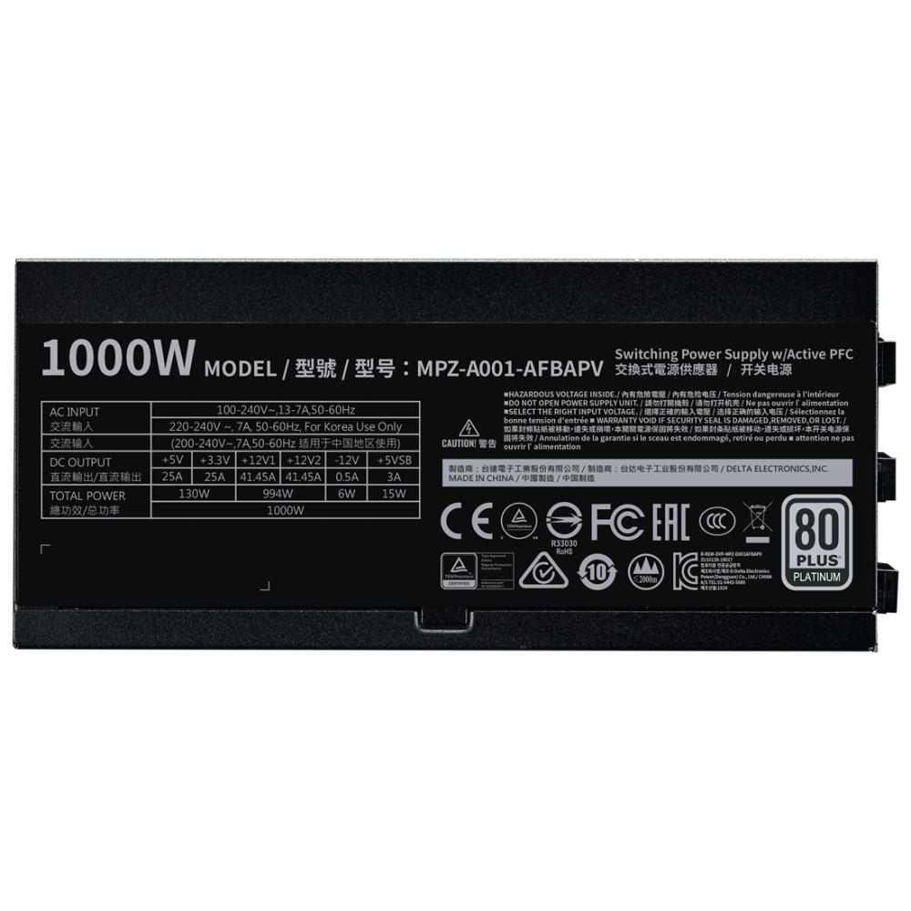 Cooler Master V1000 Full-Modular 80 Plus Platinum 1000W Power Supply 3