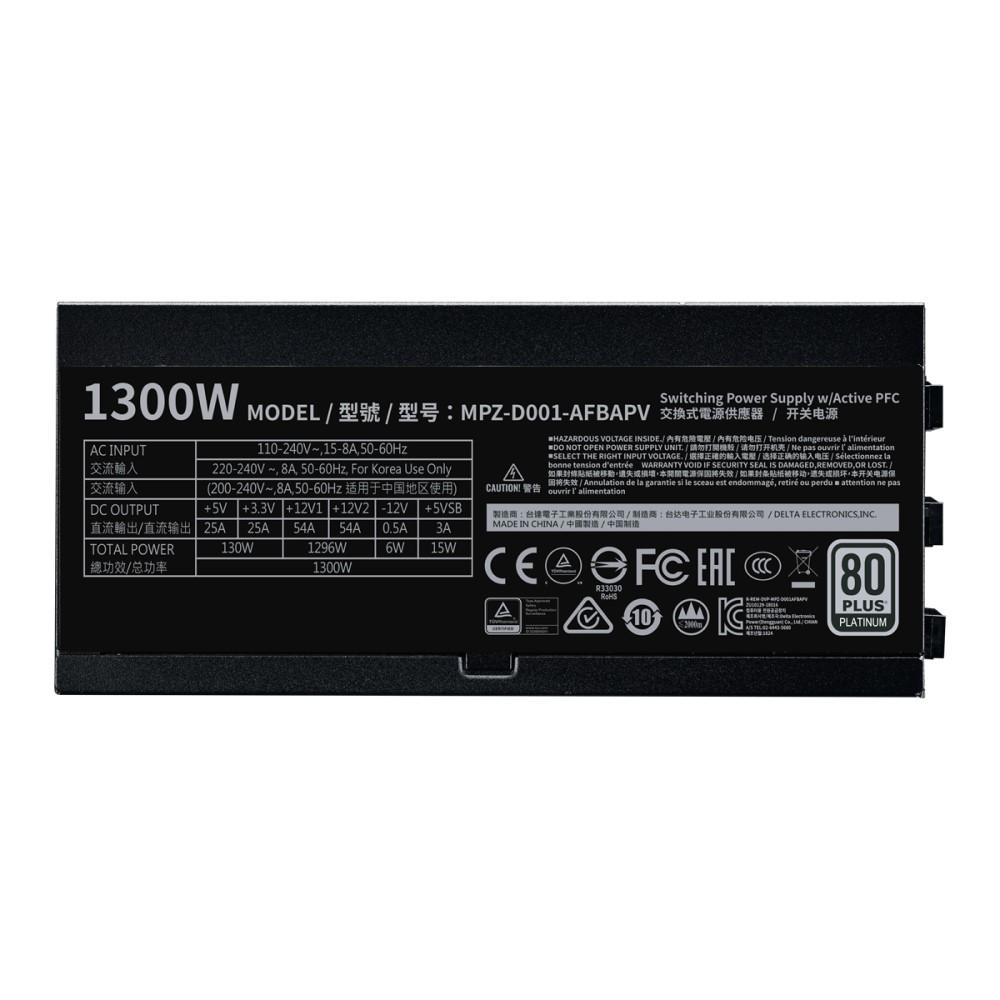 Cooler Master V1300 Full-Modular 80 Plus Platinum 1300W Power Supply 7