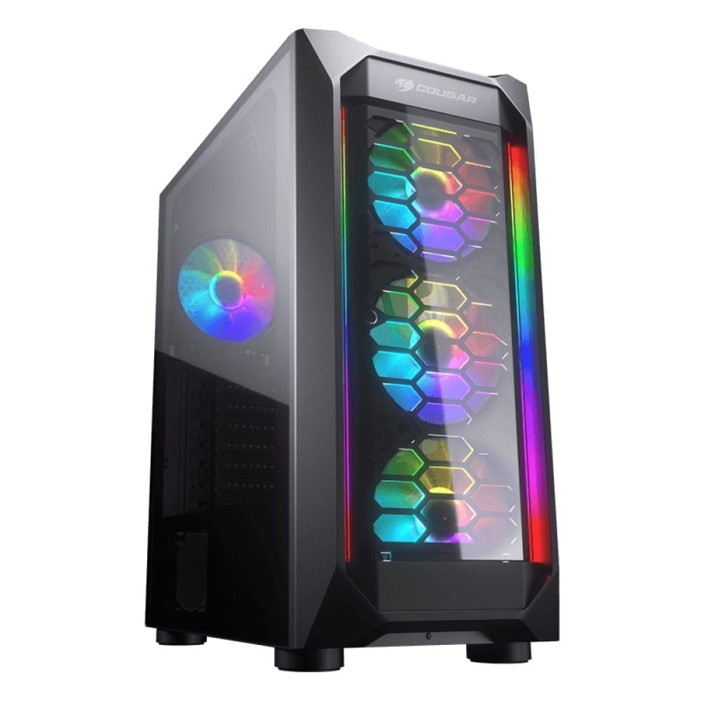 Cougar MX410-G RGB Powerful Airflow and Compact Mid-Tower Case with Tempered Glass 1