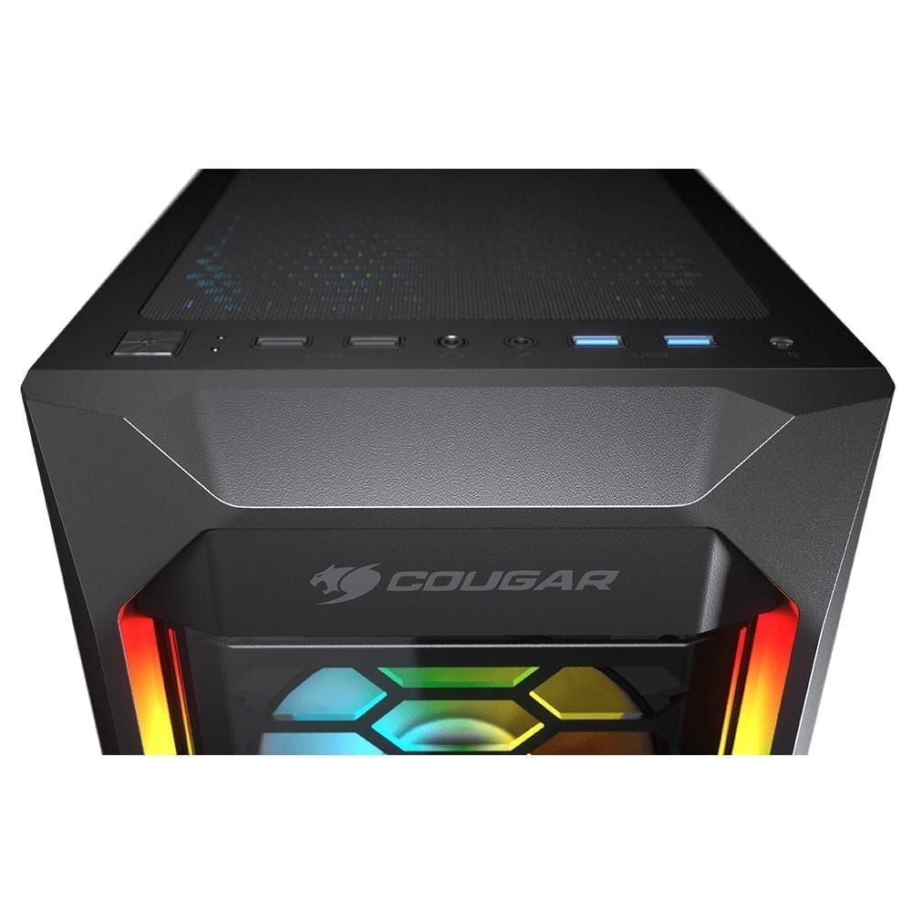 Cougar MX410-G RGB Powerful Airflow and Compact Mid-Tower Case with Tempered Glass 3