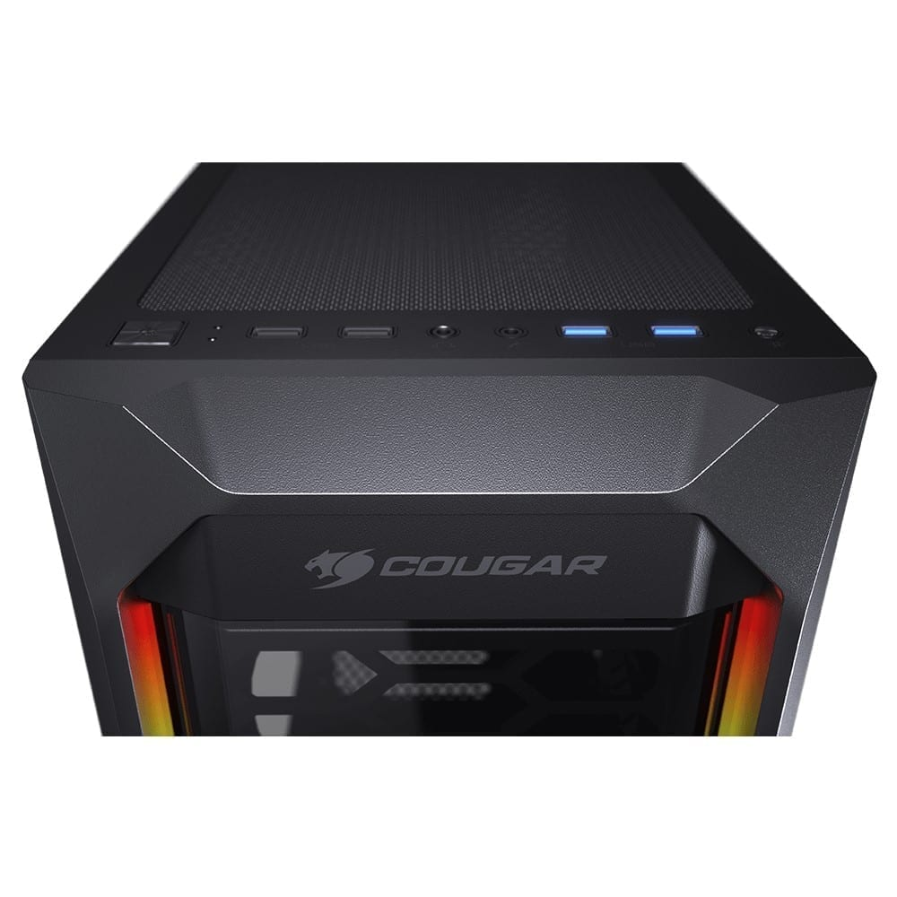 Cougar MX410-T Powerful and Compact Mid-Tower Case with Dual ARGB Strips 4