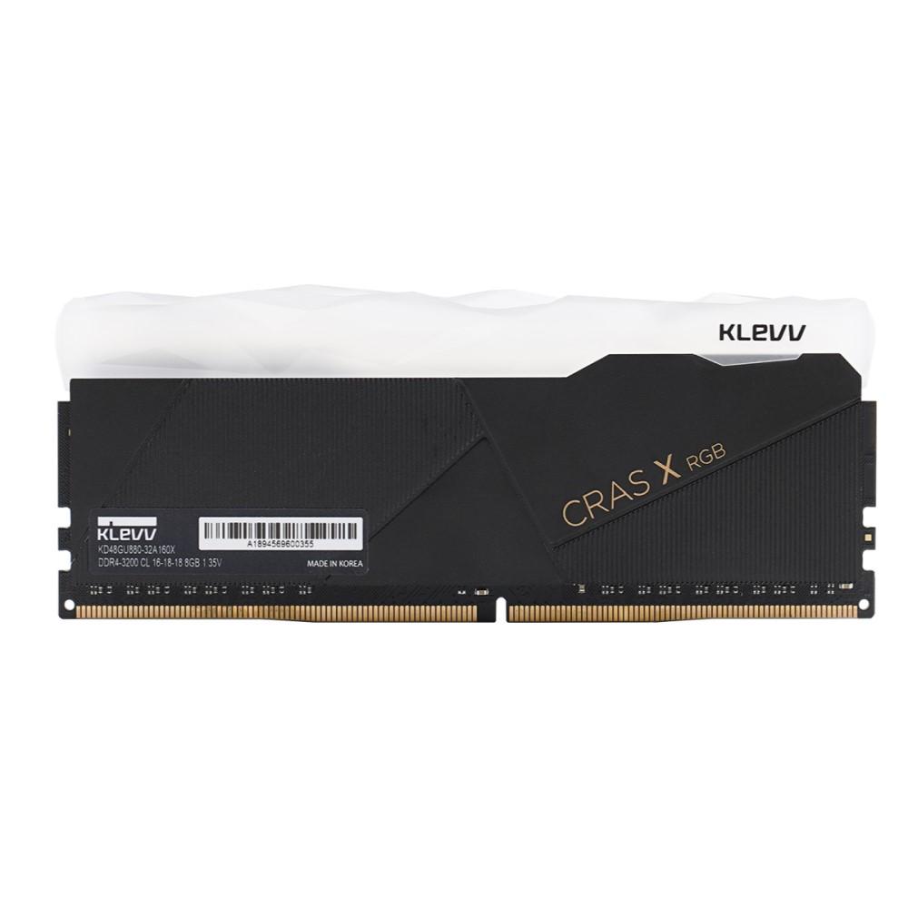 Klevv CRAS X RGB 16GB (2x8GB) DDR4 Gaming RAM 3200MHz 5