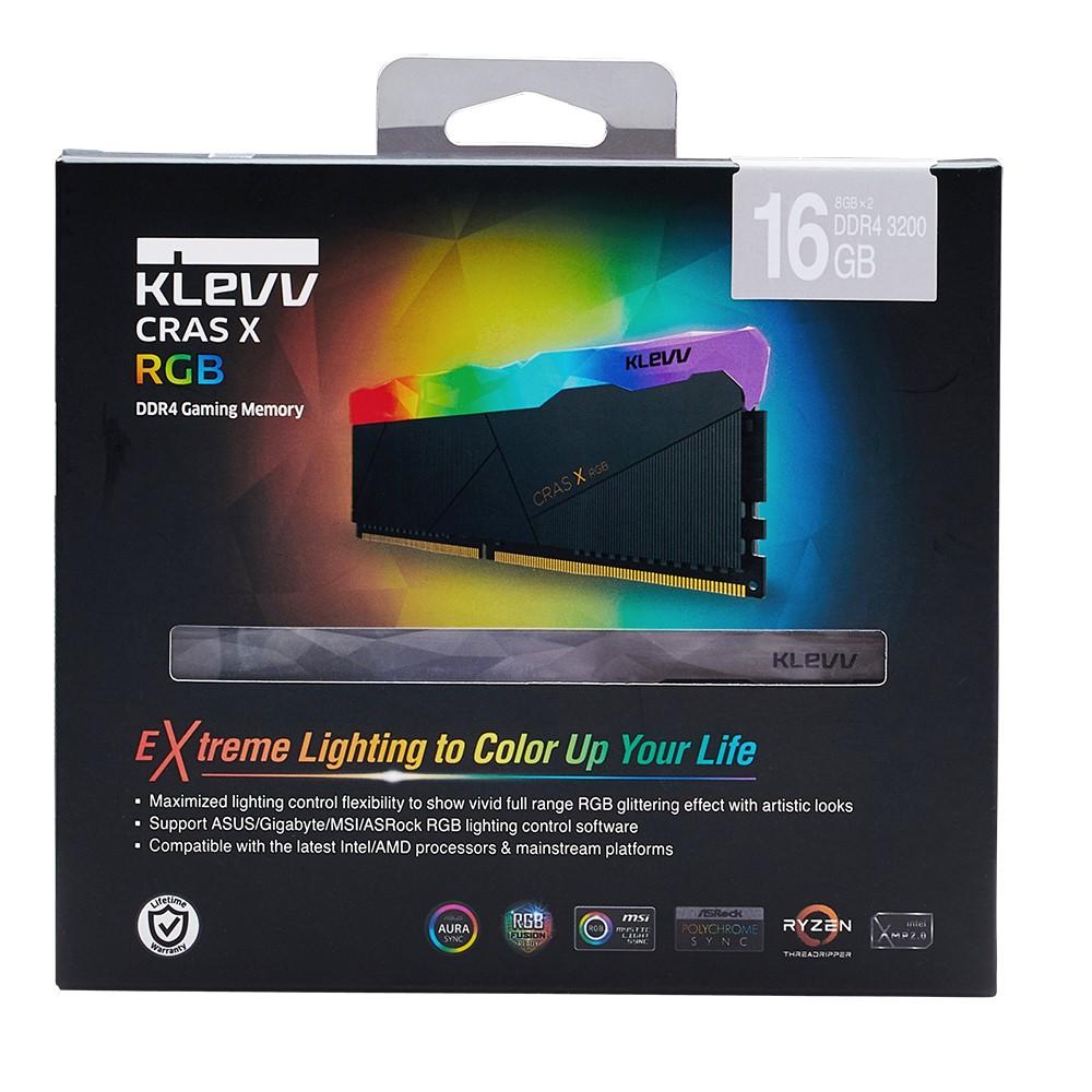 Klevv CRAS X RGB 16GB (2x8GB) DDR4 Gaming RAM 3200MHz 6