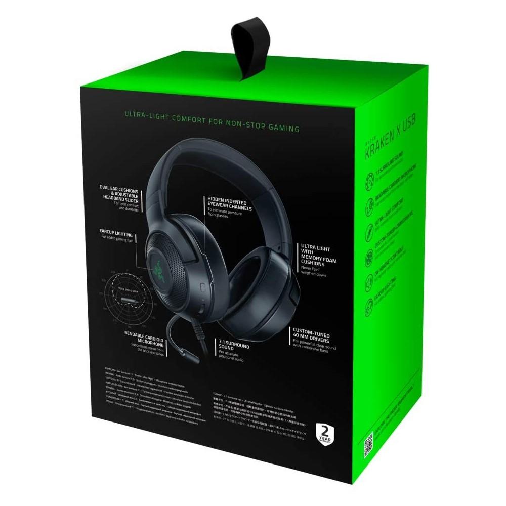 Razer Kraken X USB Digital Surround Sound Gaming Headset 7