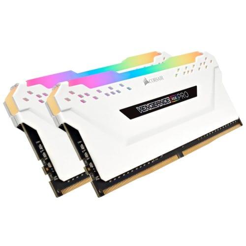 Corsair VENGEANCE® RGB PRO 32GB (2 x 16GB) DDR4 DRAM 3200MHz C16 Memory Kit — White - CMW32GX4M2C3200C16W 1