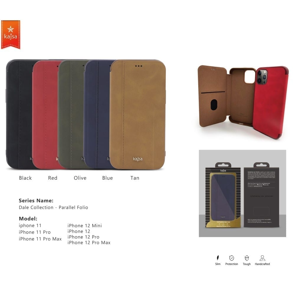 Kajsa Dale Collection (Parallel PU Folio) Case for iPhone 11 Series 2