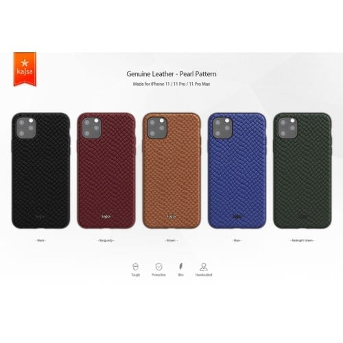 Kajsa Genuine Leather (Pearl Pattern) Back Case for iPhone 11 Series 1