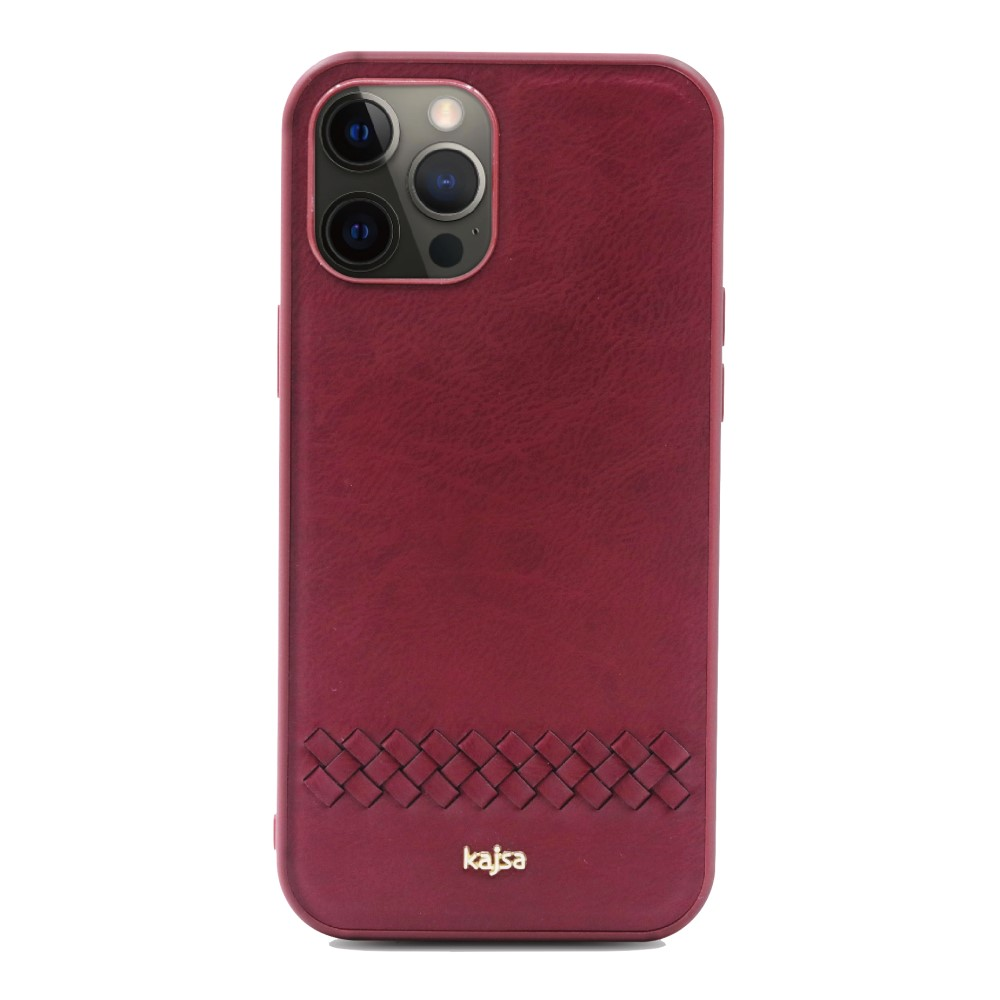Kajsa Preppie Collection (Horizontal Weave) Back Case for iPhone 12 Series 9