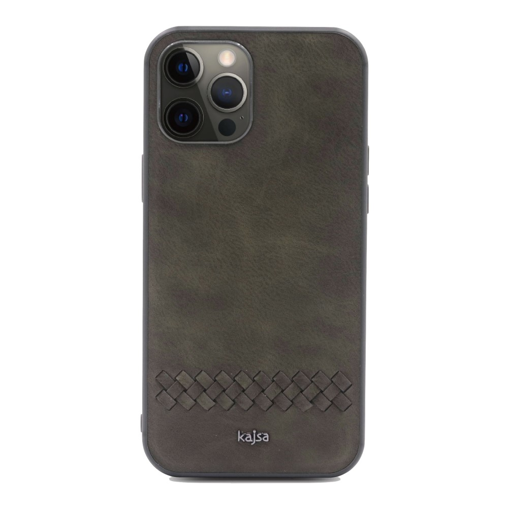 Kajsa Preppie Collection (Horizontal Weave) Back Case for iPhone 12 Series 7