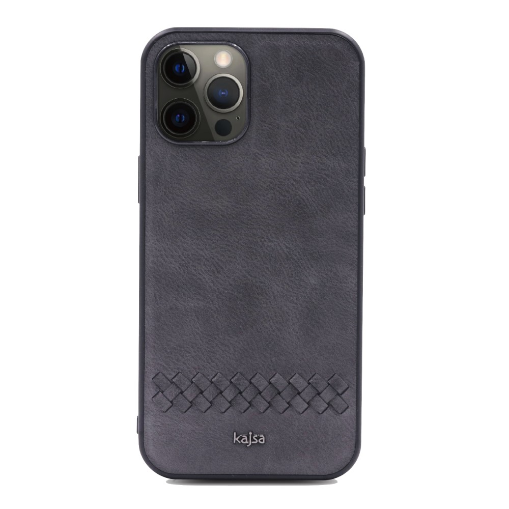 Kajsa Preppie Collection (Horizontal Weave) Back Case for iPhone 12 Series 5