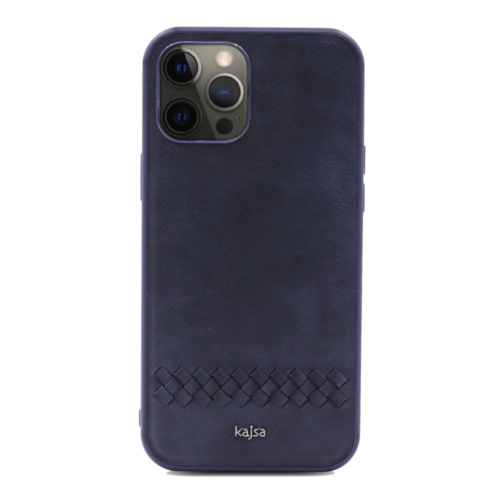 Kajsa Preppie Collection (Horizontal Weave) Back Case for iPhone 12 Series 4