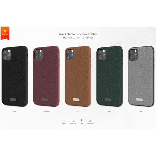 Kajsa Luxe Collection (Genuine Leather) Back Case for iPhone 11 Series 1