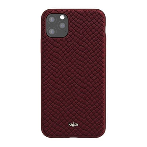 Kajsa Genuine Leather (Pearl Pattern) Back Case for iPhone 11 Series 9