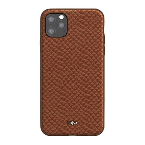 Kajsa Genuine Leather (Pearl Pattern) Back Case for iPhone 11 Series 8