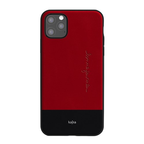 Kajsa Preppie Collection (Genuine Leather) Back Case for iPhone 11 Series 5