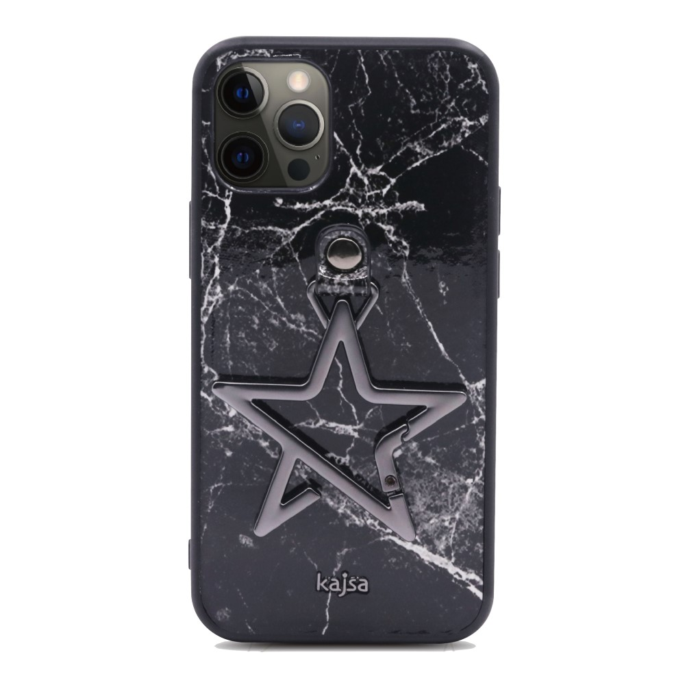 Kajsa Starry Collection - Marble Pattern Back Case for iPhone 12 Series 7