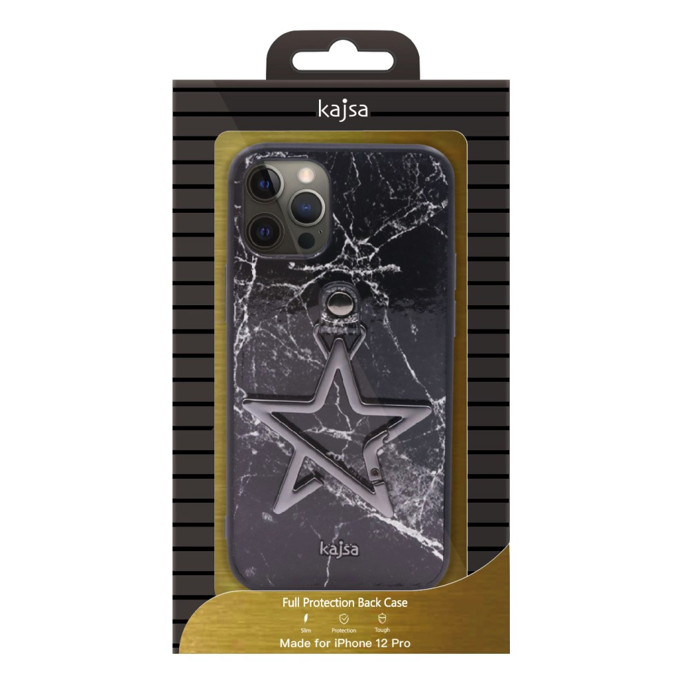 Kajsa Starry Collection - Marble Pattern Back Case for iPhone 12 Series 3