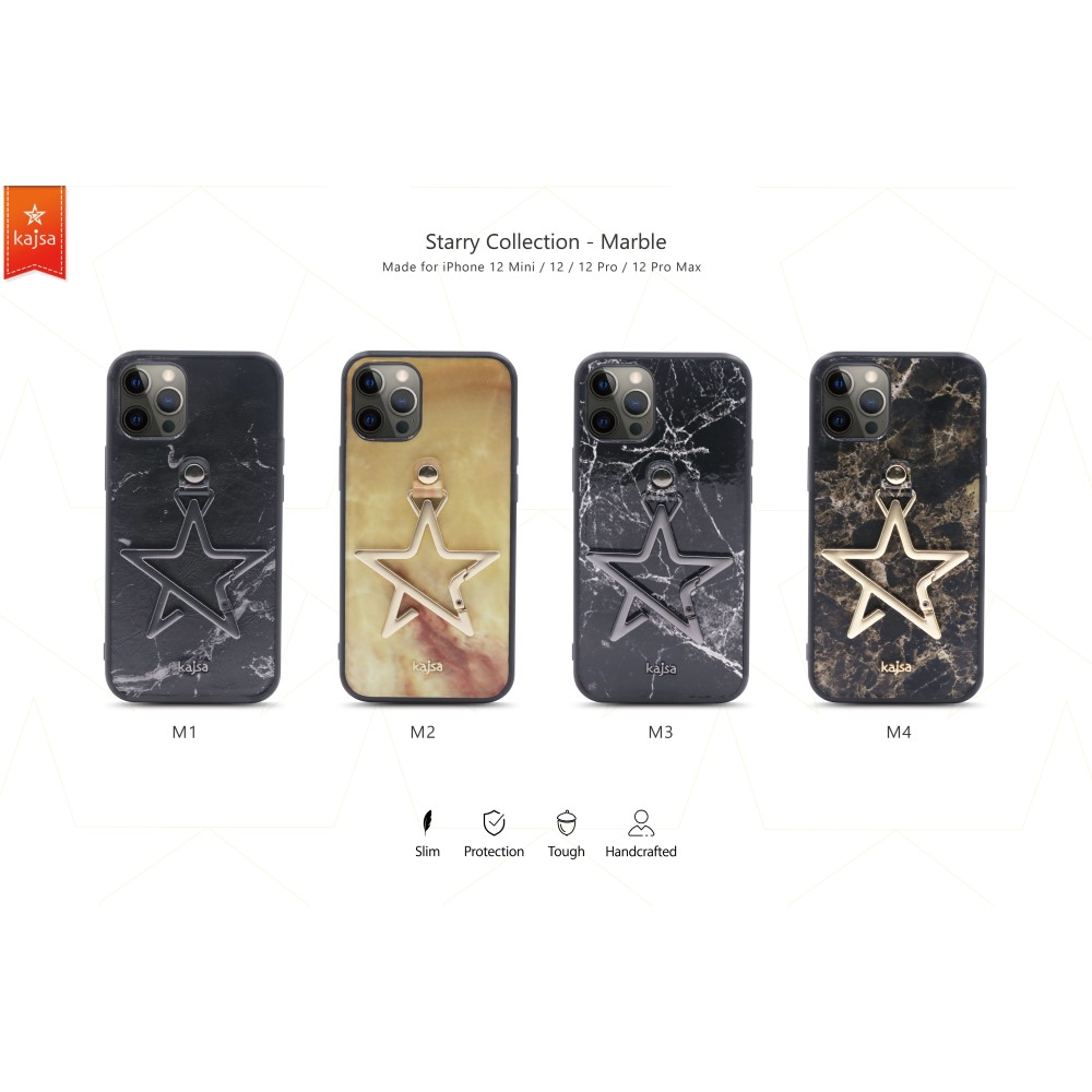 Kajsa Starry Collection - Marble Pattern Back Case for iPhone 12 Series 1