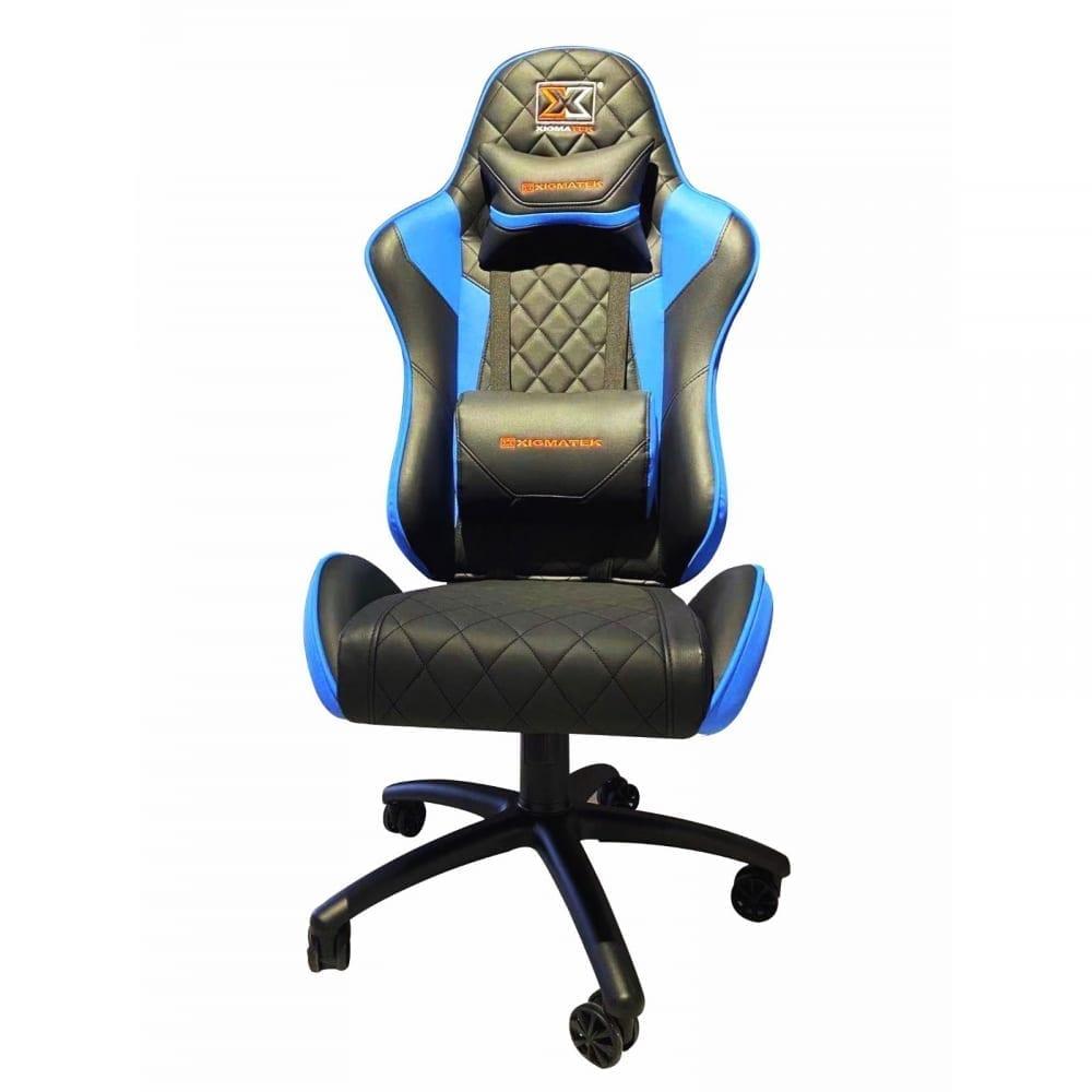 Xigmatek Hairpin Blue Gaming Chair (Black & Blue, 2D Armrests, Butterfly Mechanism, Class 4 Gas Lift, Headrest & Lumbar Pillow) EN46706 4