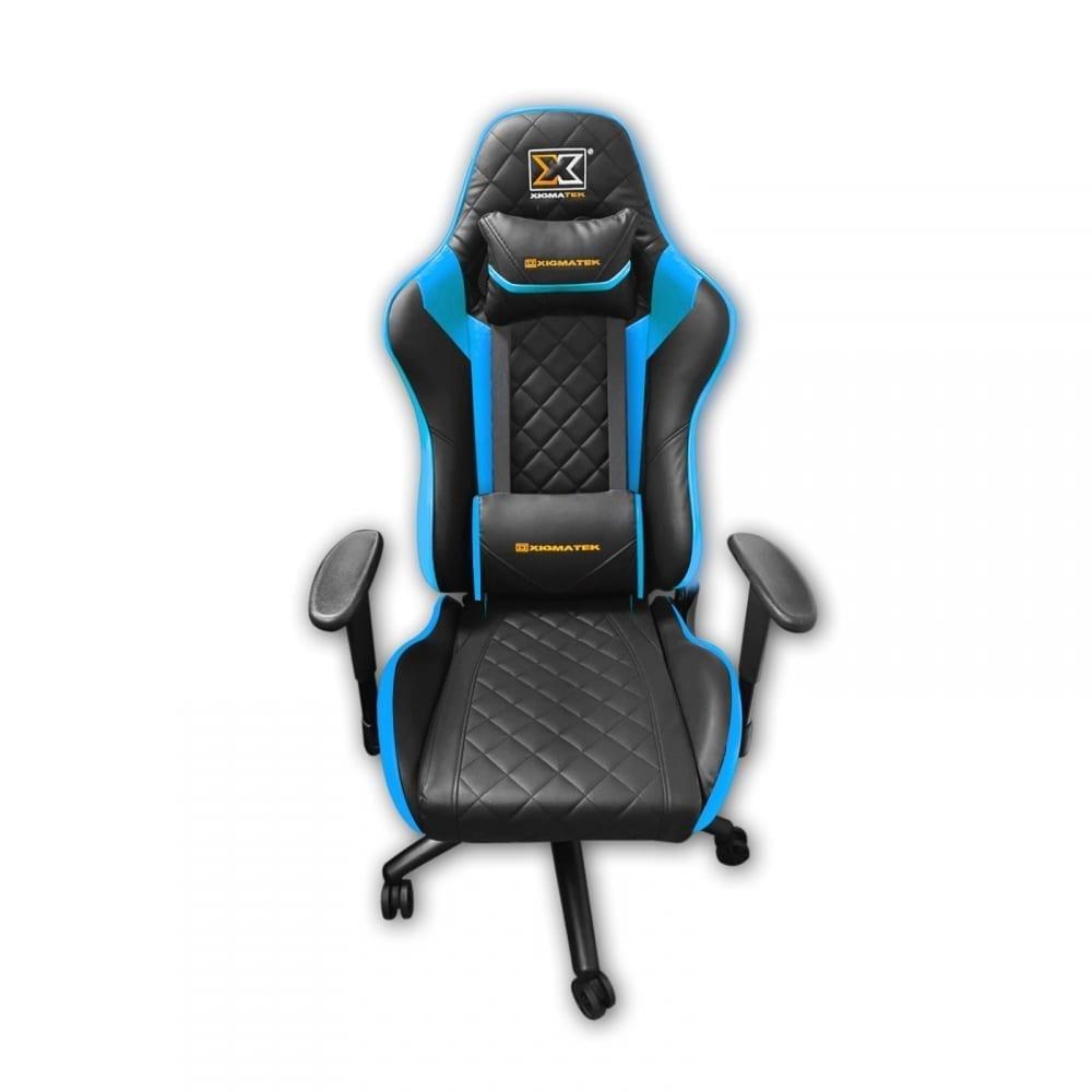 Xigmatek Hairpin Blue Gaming Chair (Black & Blue, 2D Armrests, Butterfly Mechanism, Class 4 Gas Lift, Headrest & Lumbar Pillow) EN46706 1