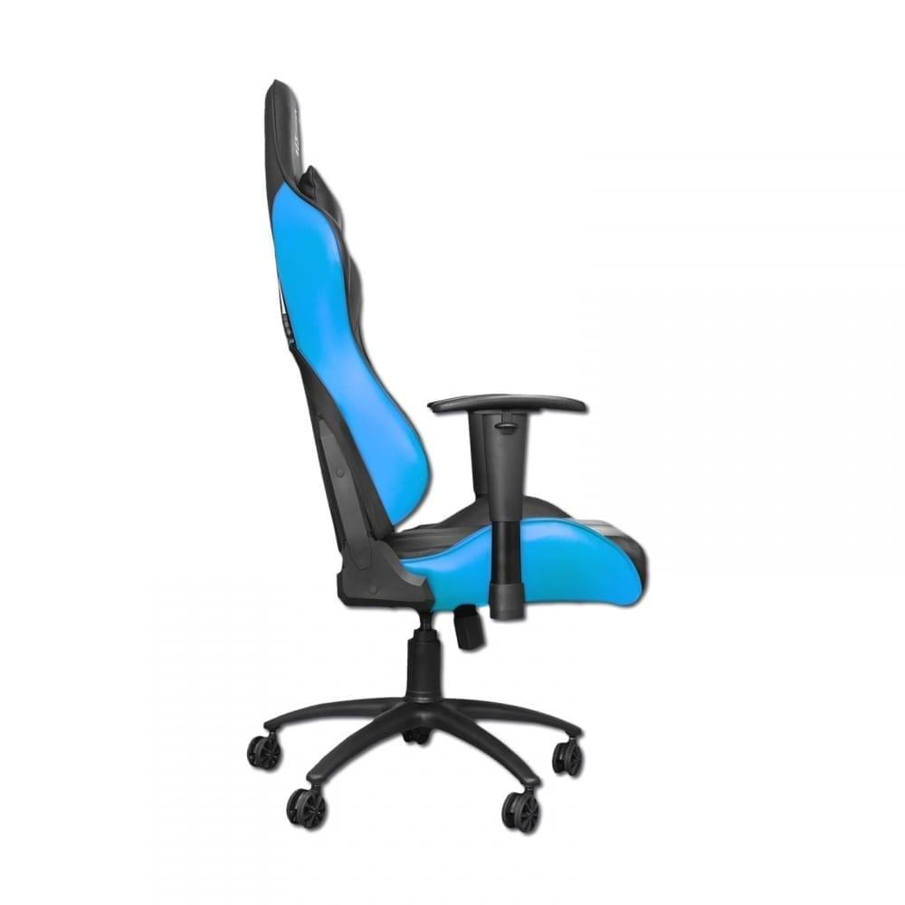 Xigmatek Hairpin Blue Gaming Chair (Black & Blue, 2D Armrests, Butterfly Mechanism, Class 4 Gas Lift, Headrest & Lumbar Pillow) EN46706 2
