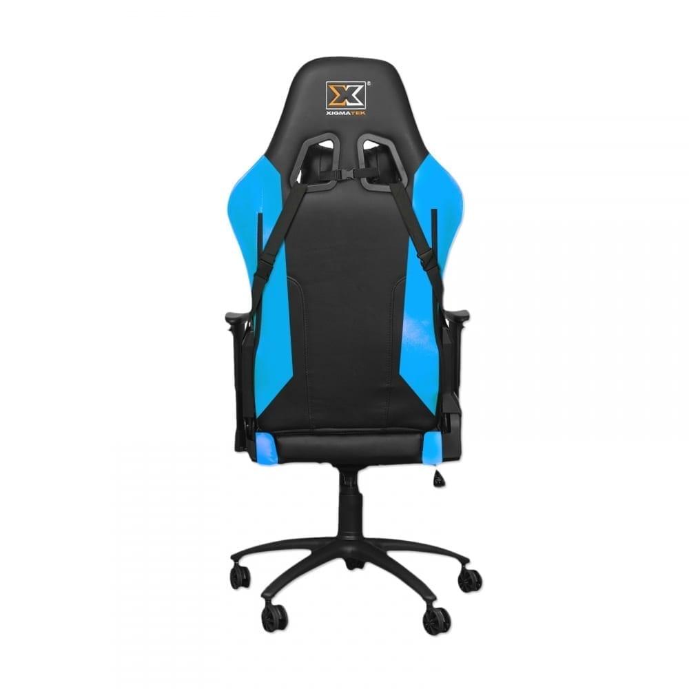 Xigmatek Hairpin Blue Gaming Chair (Black & Blue, 2D Armrests, Butterfly Mechanism, Class 4 Gas Lift, Headrest & Lumbar Pillow) EN46706 3