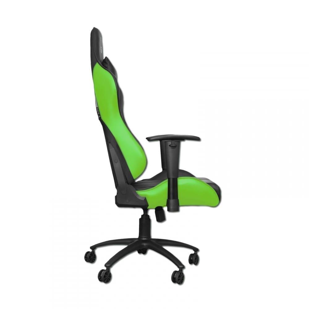Xigmatek Hairpin Green Gaming Chair (Black & Green, 2D Armrests, Butterfly Mechanism, Class 4 Gas Lift, Headrest & Lumbar Pillow) EN46683 2