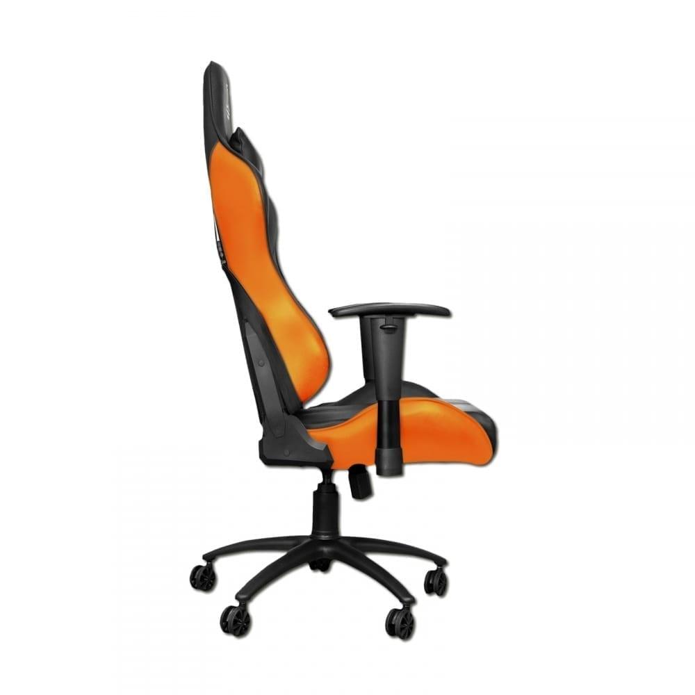 Xigmatek Hairpin Orange Gaming Chair (Black & Orange, 2D Armrests, Butterfly Mechanism, Class 4 Gas Lift, Headrest & Lumbar Pillow) EN46676 2