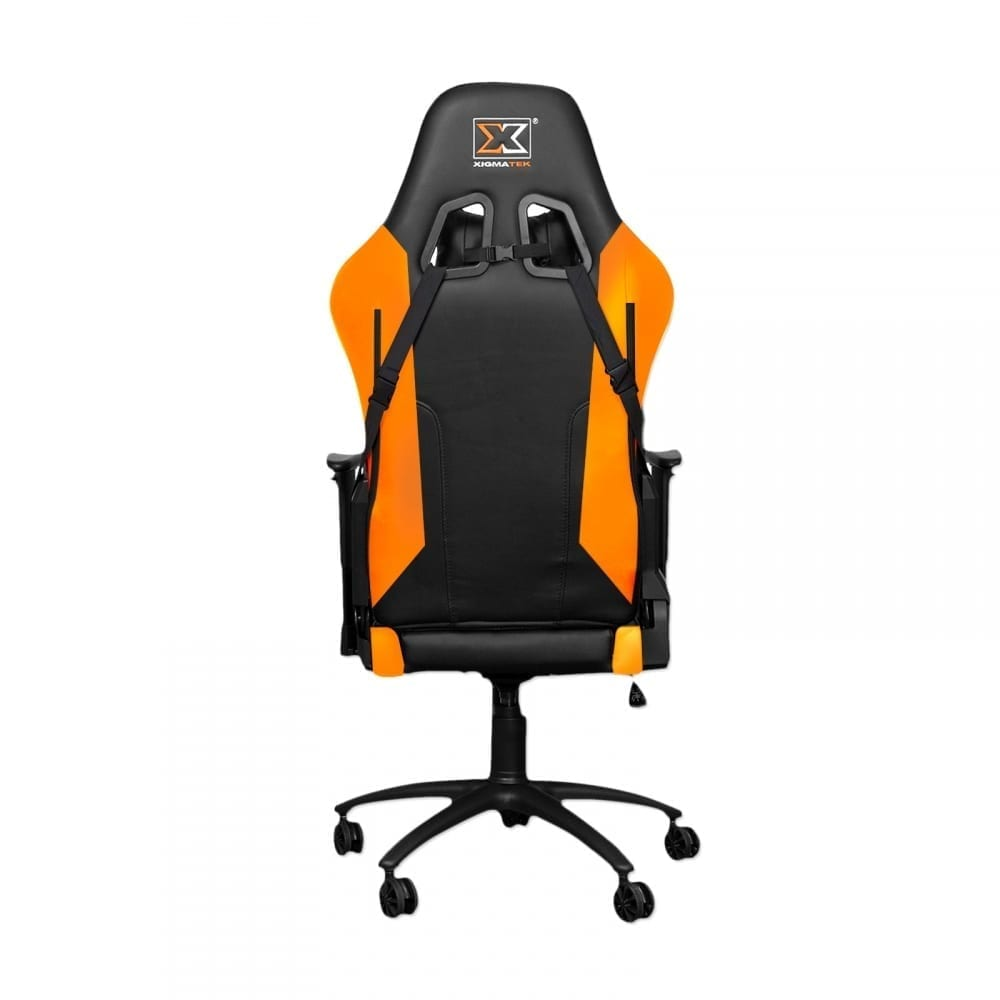 Xigmatek Hairpin Orange Gaming Chair (Black & Orange, 2D Armrests, Butterfly Mechanism, Class 4 Gas Lift, Headrest & Lumbar Pillow) EN46676 3