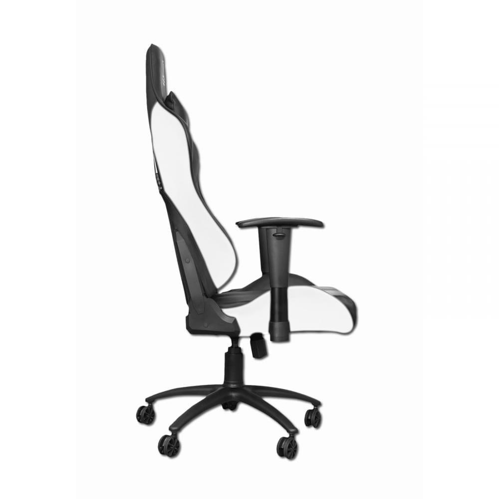 Xigmatek Hairpin White Gaming Chair (Black & White, 2D Armrests, Butterfly Mechanism, Class 4 Gas Lift, Headrest & Lumbar Pillow) EN46713 2