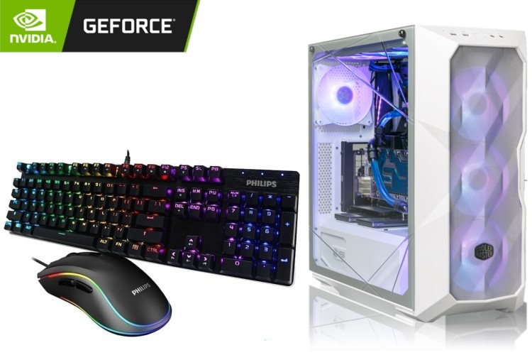 GeForce Gaming PC - TD500 Case, AMD Ryzen 5 5600X, 16GB DDR4, GeForce GTX 1660 Ti, 1TB SSD 1