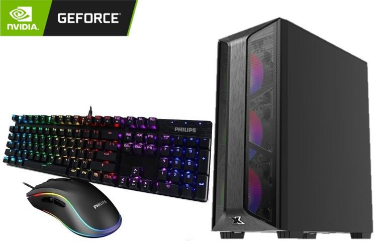 GeForce Gaming PC - Trio Case, Intel Core i5 10400F, 16GB DDR4, Geforce GTX 750 Ti, 128GB SSD, 1TB HDD, No OS 1