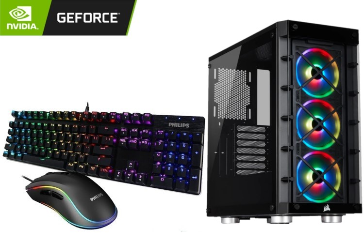 GeForce Gaming PC - iCUE 465X Case, Intel Core i7-11700K, 16GB DDR4, GeForce RTX 3070 Ti, 500GB SSD, 2TB HDD 1