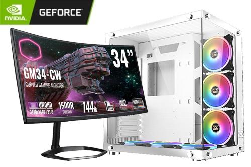 GeForce Gaming PC - Xigmatek Aquarius Plus RGB WHITE - 46430, Intel i9 10850K CPU, 32GB DDR4, GeForce ICHILL RTX 3080 Ti, 2TB SSD, 1TB HDD, Win10 Pro 1