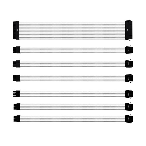 Cooler Master COLORED EXTENSION CABLE KIT for PSU - White 1