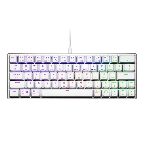 Cooler Master SK620 SILVER WHITE Low Profile Blue Switch Mechanical Gaming RGB Keyboard - US 2